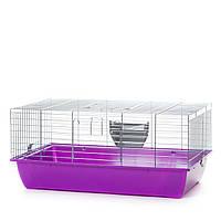 Клетка для кроликов из цинка InterZoo Rabbit 80 Zinc G 152 (780*480*340мм)