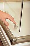 Душевая дверь Blix BLDP2-120 R-L белый+transparent, фото 3