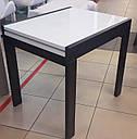 Стіл обідній Слайдер Горіх зі склом Латте, 81,5(+81,5)*67см, фото 5