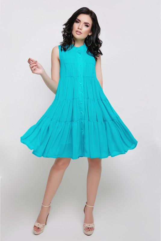 Молодежное свободное платье (в расцветках)