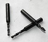Сверло твердосплавное 1,7 мм, ВК-6М (монолитное), 30/10 мм, утолщ. ц/хв (3,15 мм)., фото 4