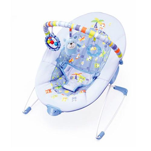 Детский шезлонг с вибрацией 6788 синий