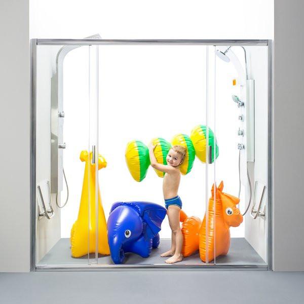 Душевая дверь Ravak Blix BLDP4-120 полир.алюм.+Grafit