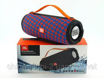 JBL Charge BoomBox E13 10W копия Explorer, блютуз колонка с МП3 и ФМ, Malta красная с синим