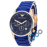 Наручные часы Emporio Armani AAA Gold-Blue Silicone