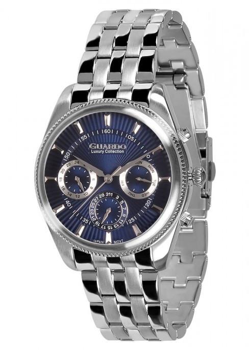 Чоловічі наручні годинники Guardo S01867(m) SBl