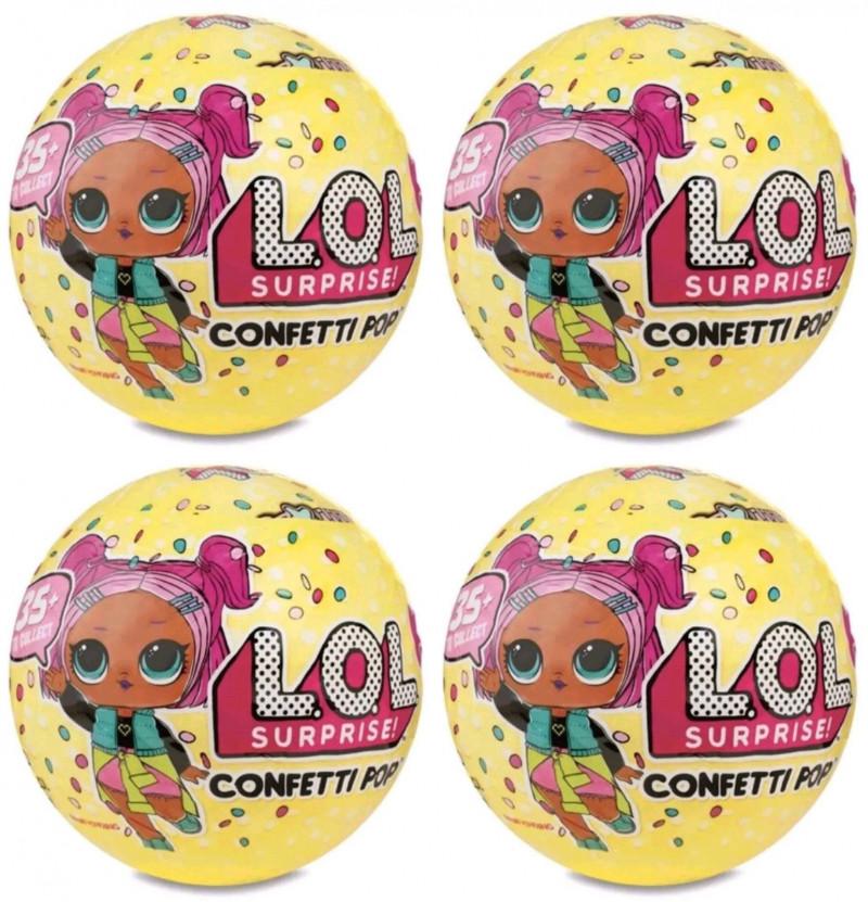Кукла LOL, Лол, Шар, Сюрприз в яйце, confetti, Конфетти