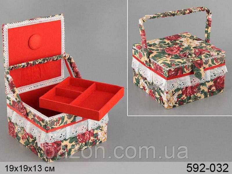 Скринька для рукоділля Lefard 19х19х13 см