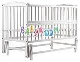 Детская кроватка Babyroom Веселка из бука с маятником и откидным боком, фото 7