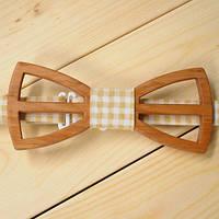 Деревянный галстук-бабочка №14