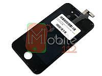 Модуль для iPhone 4 (дисплей + тачскрин), черный, копия высокого качества TianMa
