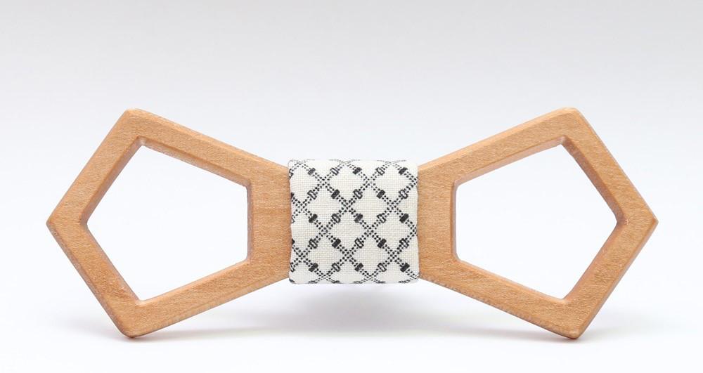 Деревянный галстук-бабочка №19