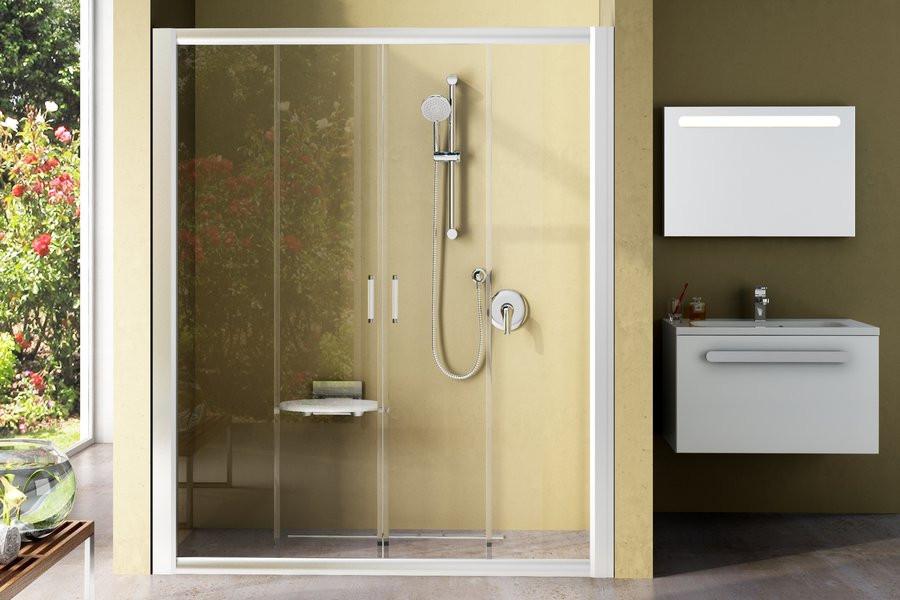 Душевые двери Ravak Rapier NRDP-4-160 белый/прозрачное