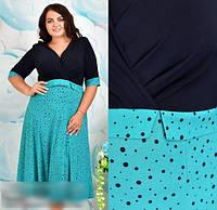 Сукня жіноча з завищеною талією, 48-62 розмір, фото 1