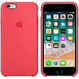 Чехол накладка xCase для iPhone 5/5s/SE Silicone Case светло-малиновый (red raspberry), фото 2