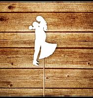 Вау! Деревянный Топпер для десерта 25х12 см №3, Белый