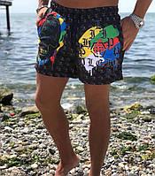 Шорты мужские легкие пляжные Philipp Plein (реплика) 61a84a8225184