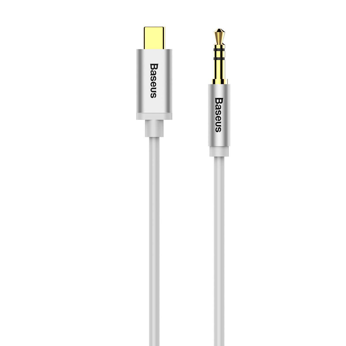 Audio cable Baseus M01 Yiven Type-C to 3.5 miniJack, male to male, 1m white