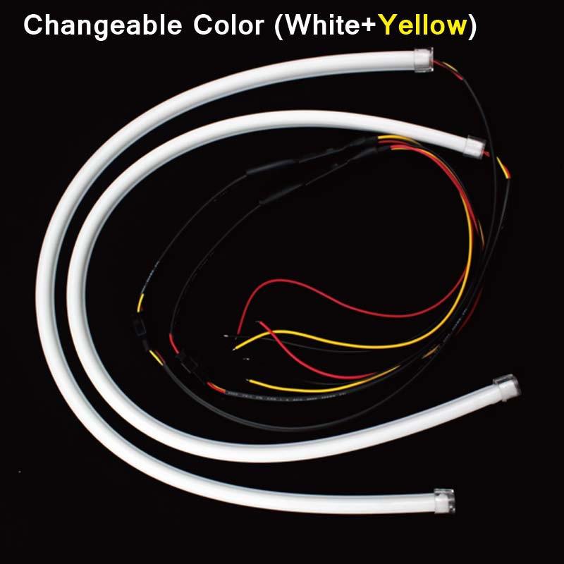 30 см 6 Вт полосы света гибкие фары DRL -Белый