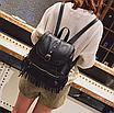 Рюкзак женский кожзам с бахромой Cowboys Backpacks Черный, фото 2