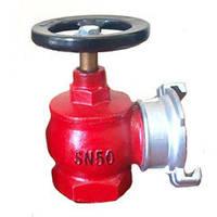 Кран (вентиль) угловой пожарный чугунный Ду-50