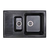 Fosto Мойка 77x49 SGA-420 (черный) двойная
