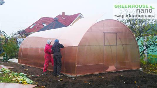 Теплиця Люкс 3х6х2м з полікарбонатом GreenHouse Nano 8 мм