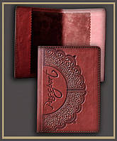 Обложка для паспорта кожаная ручной работы