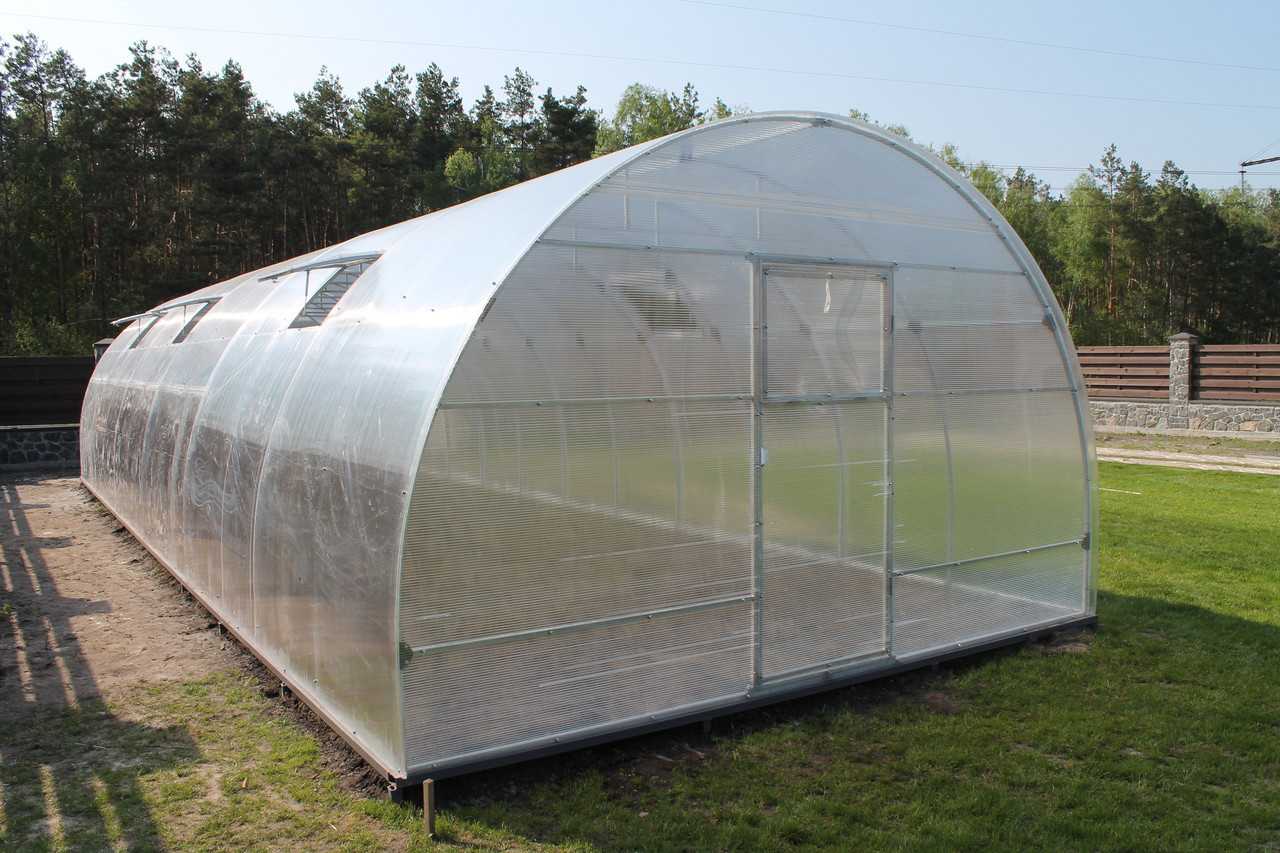 Теплиця Норд 4*8*2.5 м з полікарбонатом Greenhouse 8 мм.