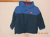 Куртка утепленная на мальчика с клетчатой подкладкой Lee Cooper, фото 1