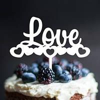 Вау! Стильный Деревянный Топпер для десерта №25, Белый