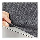 Подлокотник с подушкой для модульного дивана IKEA DELAKTIG Hillared антрацит 092.599.62, фото 3