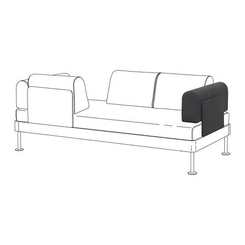 Подлокотник с подушкой для модульного дивана IKEA DELAKTIG Hillared антрацит 092.599.62