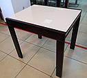 Стіл обідній Слайдер Венге зі склом Бежевий,81,5 (+81,5)*67см, фото 3