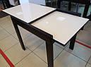 Стіл обідній Слайдер Венге зі склом Бежевий,81,5 (+81,5)*67см, фото 4