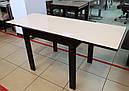 Стіл обідній Слайдер Венге зі склом Бежевий,81,5 (+81,5)*67см, фото 5