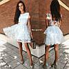 Жіноче ошатне плаття з відкритою спинкою, в кольорах. БЛ-5-0718, фото 3