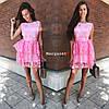 Жіноче ошатне плаття з відкритою спинкою, в кольорах. БЛ-5-0718, фото 5