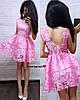 Жіноче ошатне плаття з відкритою спинкою, в кольорах. БЛ-5-0718, фото 6