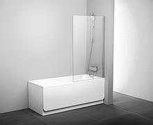 Шторка для ванни нерухома Ravak PVS1-80,полірований алюміній +transparent