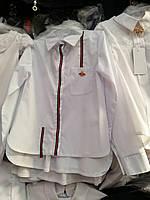 Блуза школьная стильная с длинным рукавом для девочки оптом