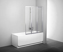 Шторка для ванни складається трьохелементна Ravak VS3-130 сатин+rain(полістирол)