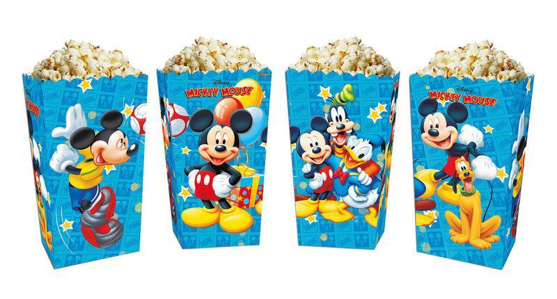 """Коробочки/стаканчики """"Микки Маус"""" для сладостей и попкорна бумажные, 5 штук"""
