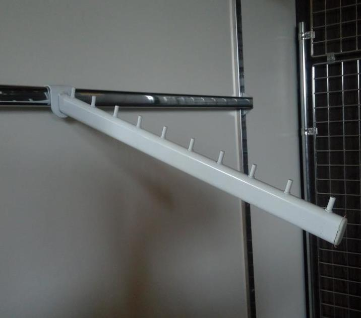 Кронштейн (флейта) в перемичку для рейкового торгового обладнання