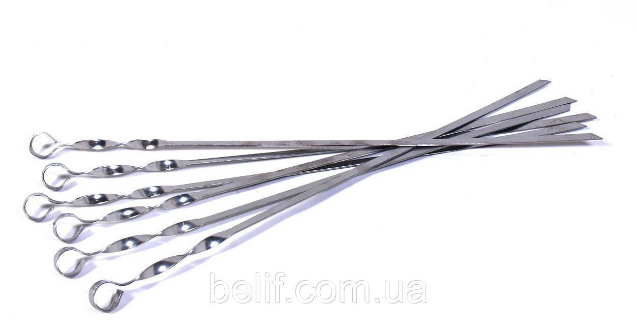 Шампур, неіржавіюча сталь, 575x1,5мм, угловой