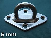 Нержавеющий обух мачтовый на ромбовидном основании, 5 мм