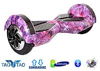 """Гироборд Smart Balance Wheel 8"""" TaoTao Космос (Фиолетовый)"""