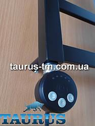 """Круглый чёрный ТЭН TERMA MEG1 black с регулировкой 30-60С + лампочки LED; Польша 1/2""""; Мощность: 120W-1000W"""