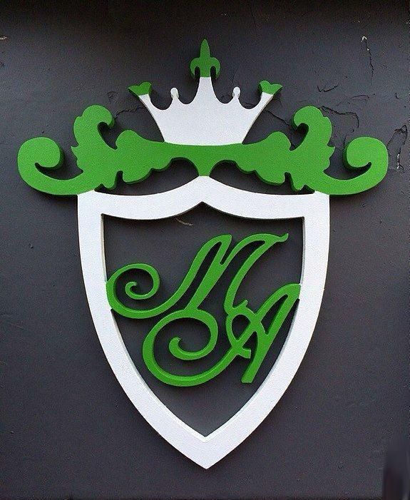 Свадебный деревянный герб №2