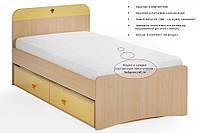 Детская кровать Cilek Split Yellow 90x190 см
